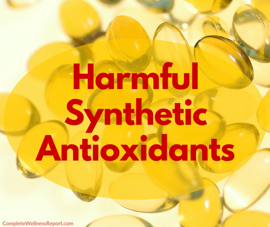 Harmful Synthetic Antioxidants